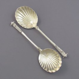 Pair of Edwardian Silver Berry Spoons