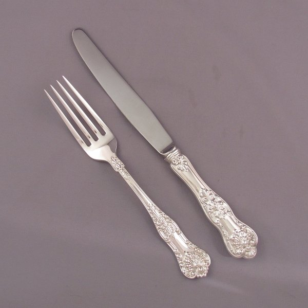An extensive Birks Queens sterling silver flatware service for eight comprising: