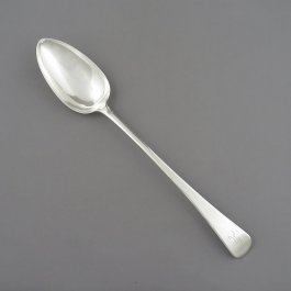 A George III sterling silver stuffing spoon in Old English pattern by Richard Crossley, hallmarked London 1801